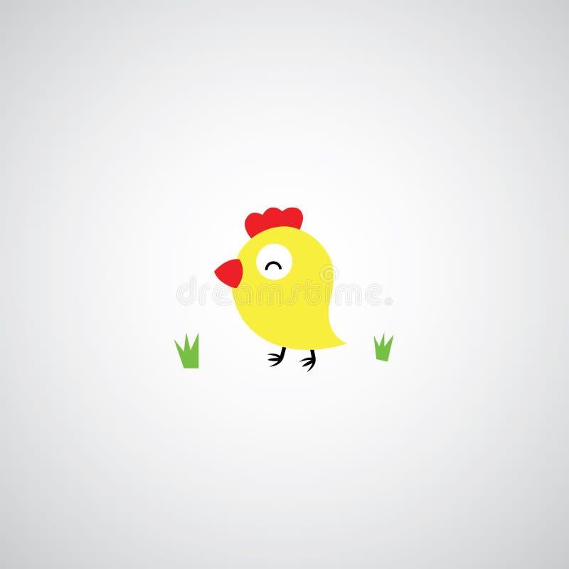 Курица шаржа с яичками иллюстрация вектора
