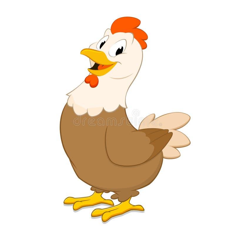 Курица шаржа иллюстрация штока