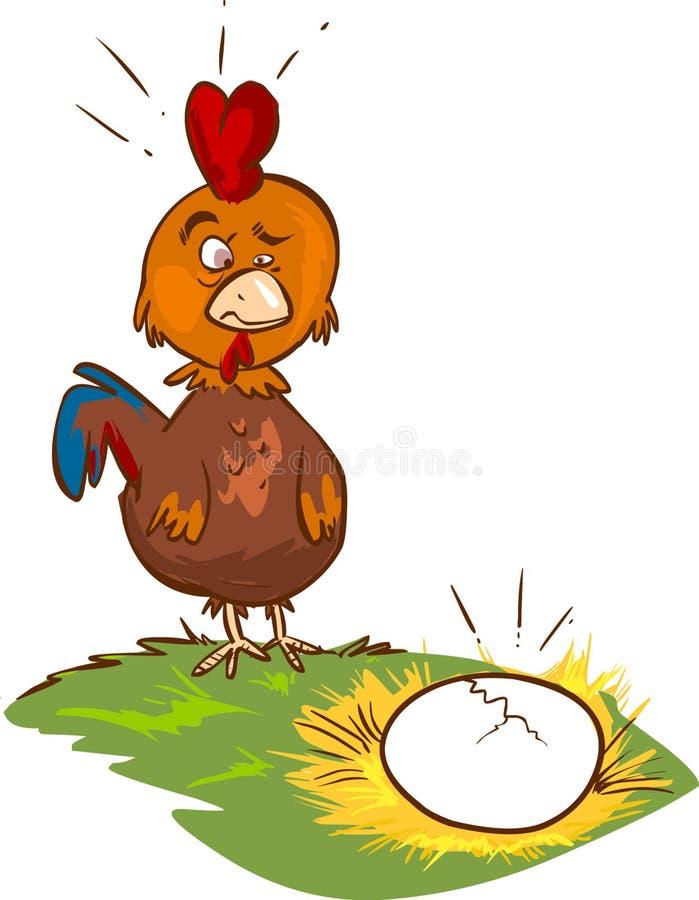 Курица иллюстрация вектора