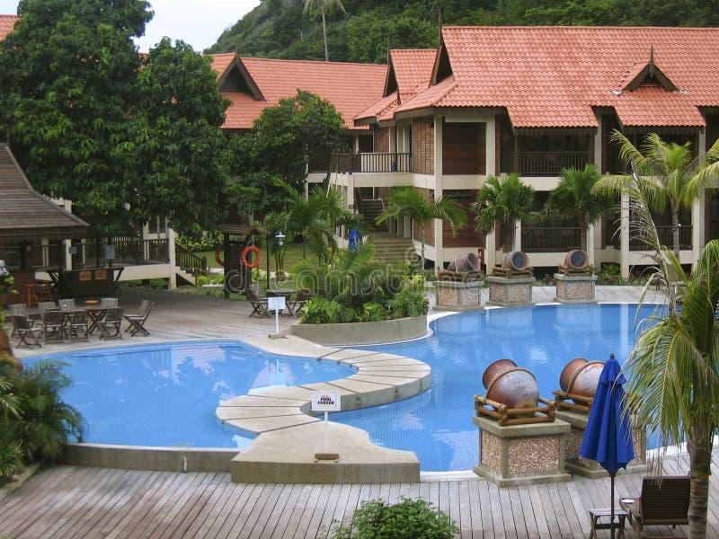 курорт бассеина тропический стоковое изображение rf