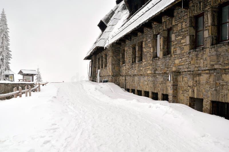 Курорт в горах стоковое фото rf