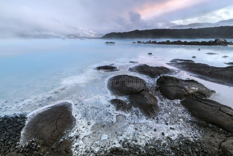 Курорт голубой лагуны геотермический в Исландии стоковое изображение rf