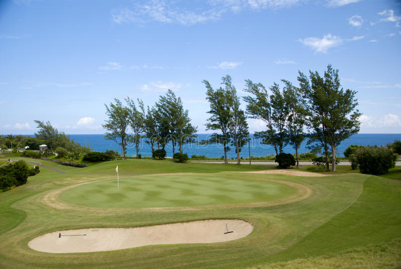 курорт гольфа стоковая фотография