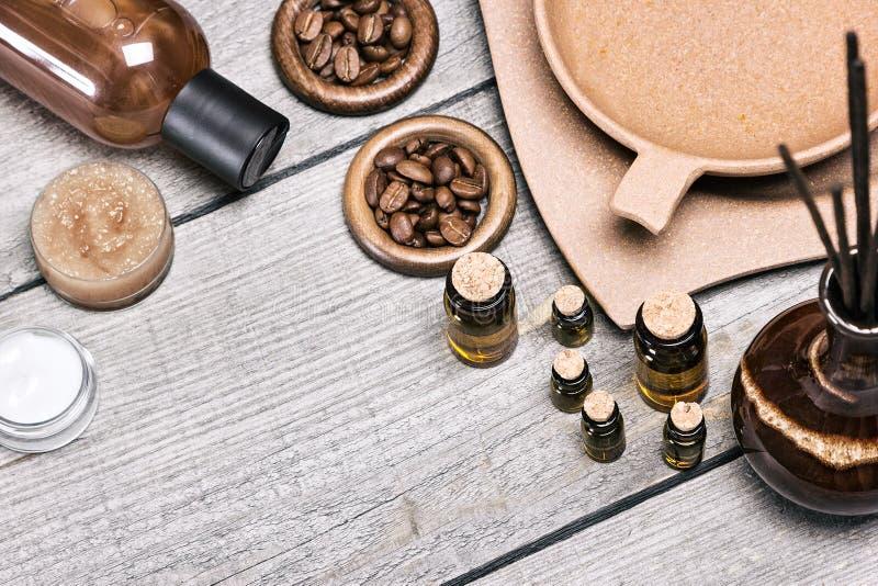 Курорт и косметики и аксессуары ароматерапии стоковая фотография