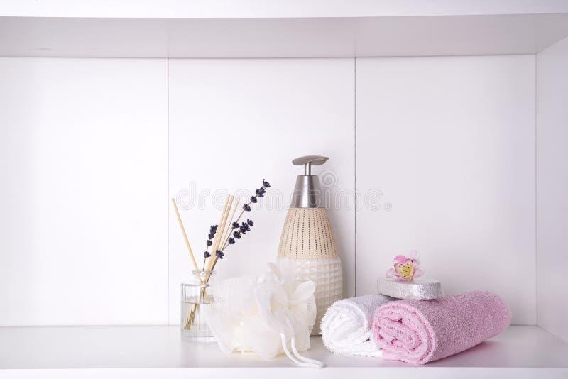Курорт и установка здоровья с полотенцами Продукты природы Dayspa стоковое изображение