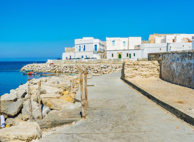 Курорт на накидке Африке, Mahdia, Тунисе стоковое изображение
