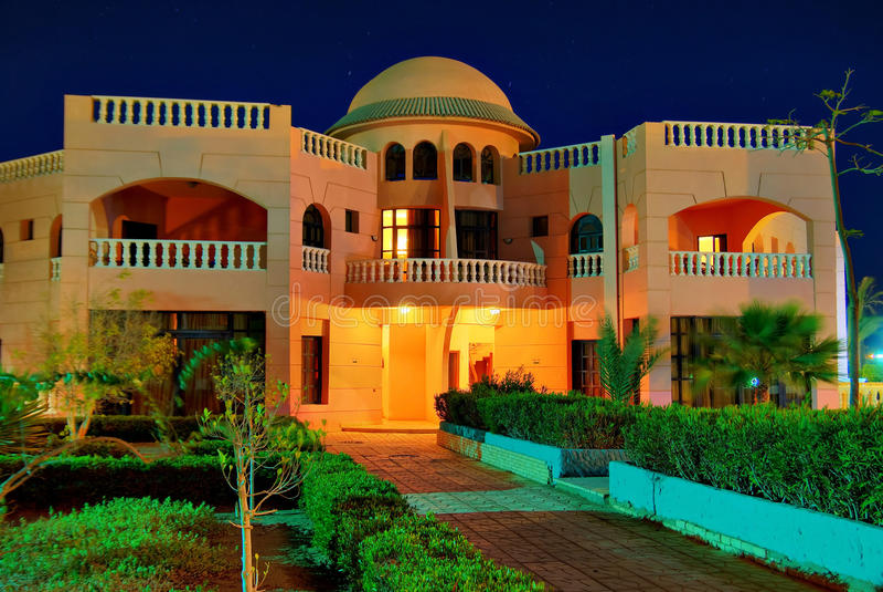 курорт ночи hdr Египета стоковая фотография rf