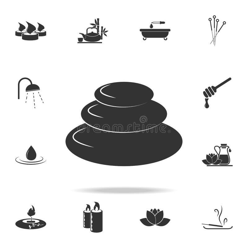 Курорт облицовывает значок Детальный комплект значков КУРОРТА Наградной качественный графический дизайн Один из значков собрания  иллюстрация штока