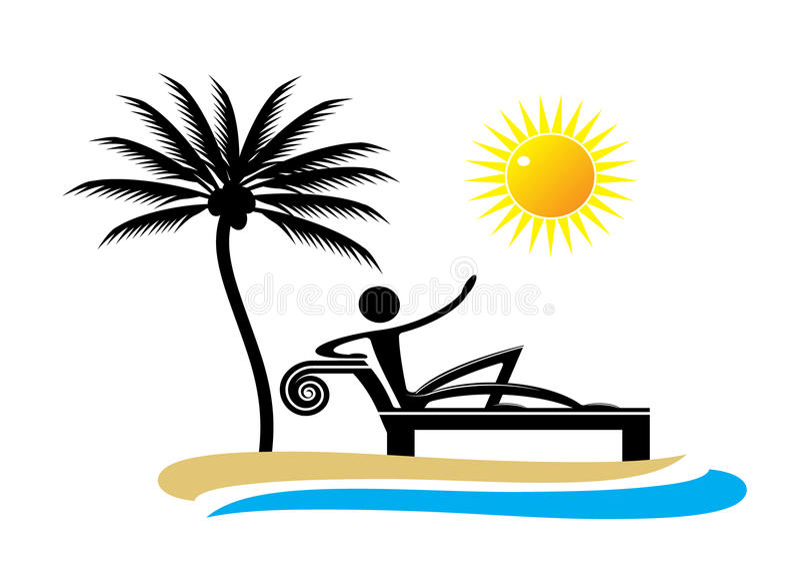 Курорт логотипа бесплатная иллюстрация