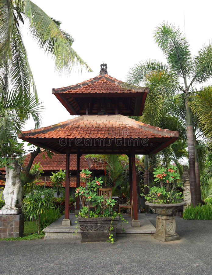 курорт павильона сада balinese стоковое изображение