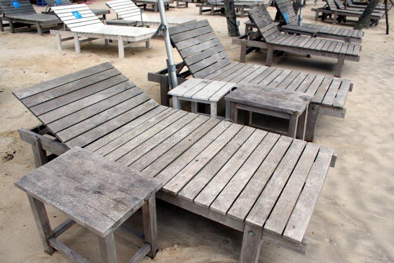 курорт палубы стулов пляжа стоковое изображение