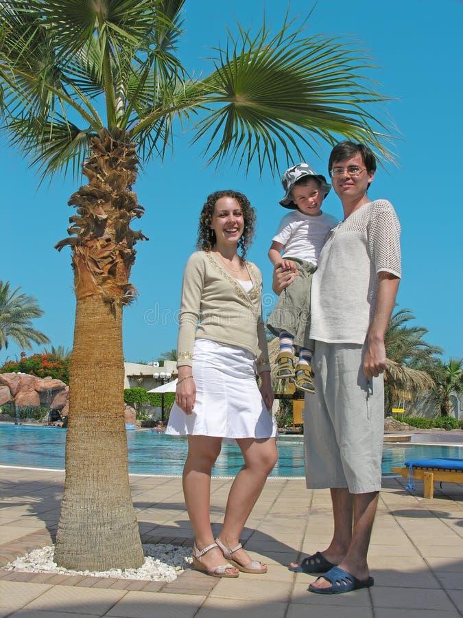 курорт семьи стоковое фото
