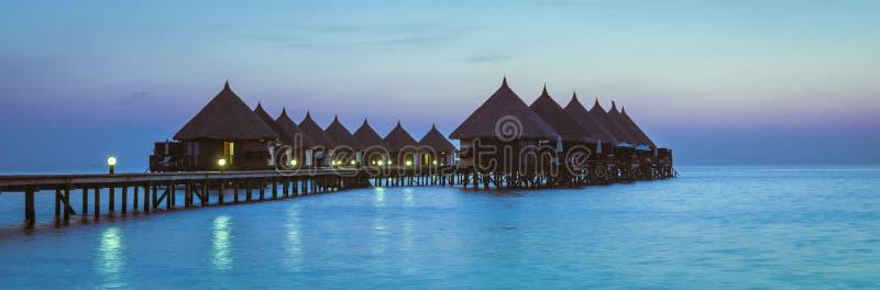 Курорт Angaga Атолл Ari стоковые изображения rf