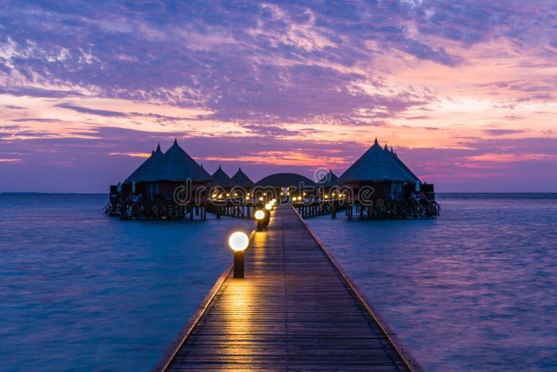 Курорт Angaga На заходе солнца стоковое изображение rf