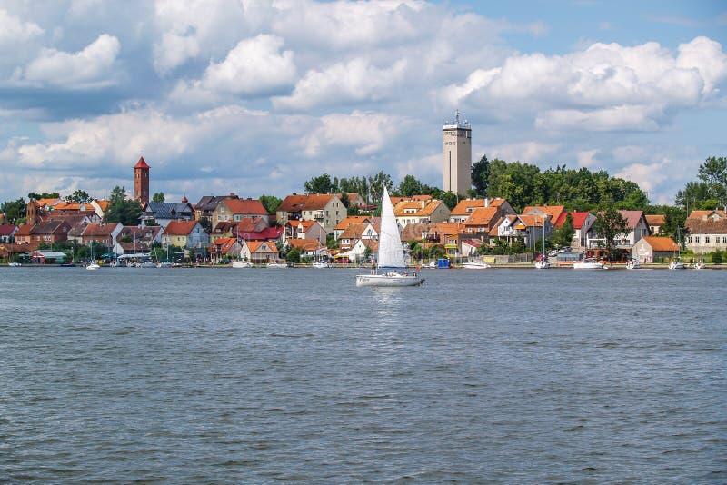Курорт Mikolajki в зоне Mazury, Польше стоковые изображения rf