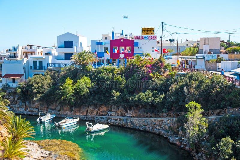 Курорт Sissi на острове Крита стоковые фото