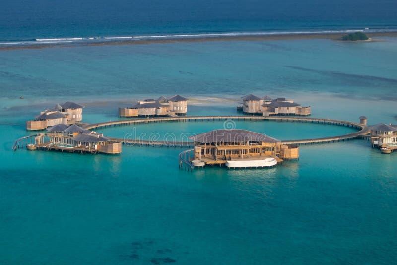 Курорт Soneva Jani, Medhufaru, Мальдивы стоковые фото