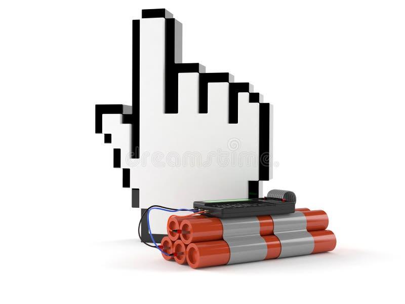 Курсор интернета с бомбой бесплатная иллюстрация