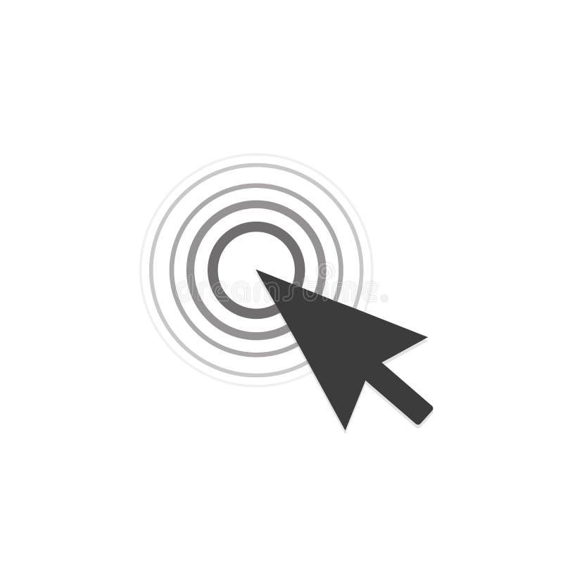 Курсор щелчка мыши компьютера также вектор иллюстрации притяжки corel иллюстрация штока