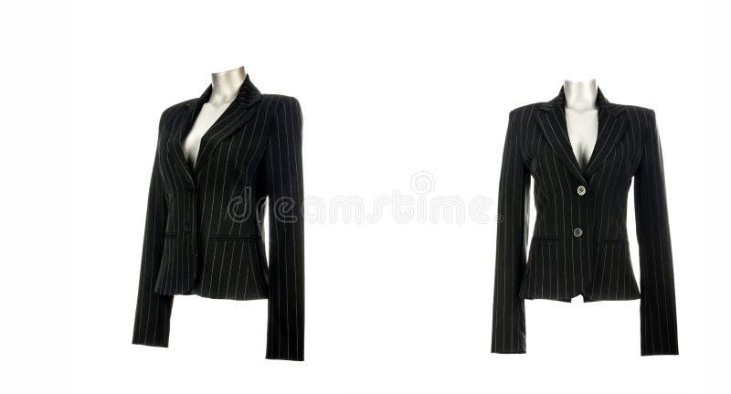 Куртка блейзера черных бизнес-леди элегантная стоковые изображения rf