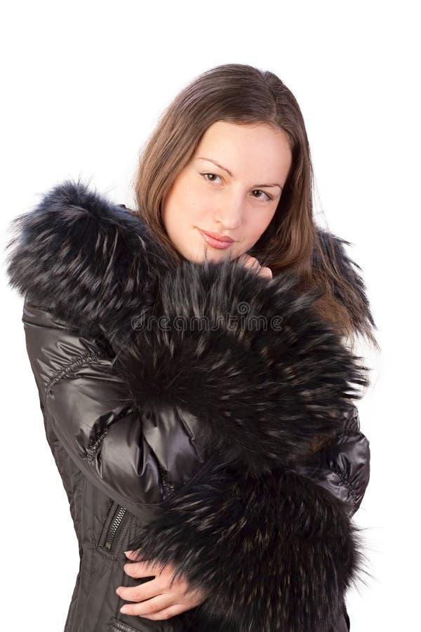 куртка девушки осени стоковое изображение