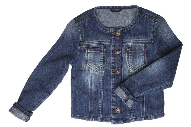 Куртка джинсовой ткани младенца стоковое изображение