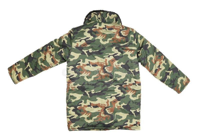 Куртка зимы камуфлирования. Задний взгляд стоковое фото