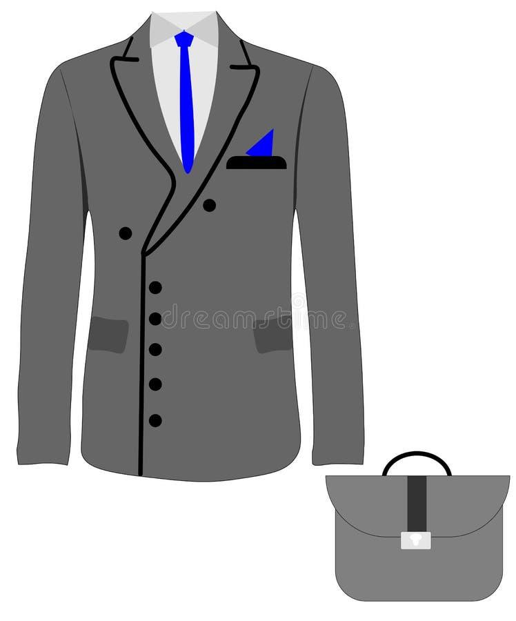 Куртка куртки людей сети, двух--breasted и одно--breasted, костюм Плоский дизайн, иллюстрация вектора, вектор иллюстрация штока