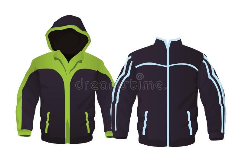 Куртки фитнеса спорта иллюстрация штока