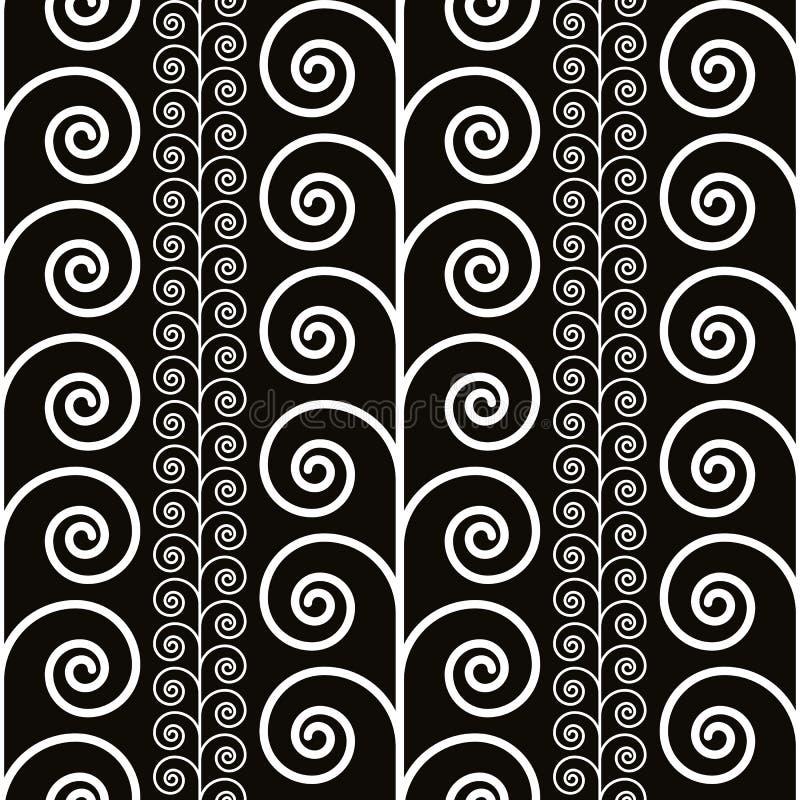 Курчавая декоративная безшовная картина, черно-белая иллюстрация штока