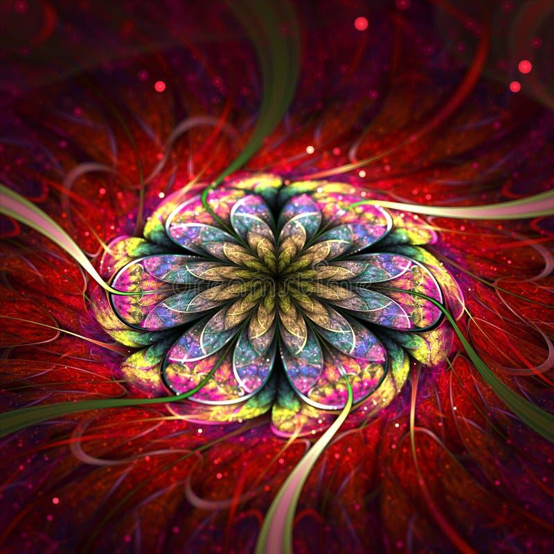 Курчавая эллиптическая фракталь стоковое изображение