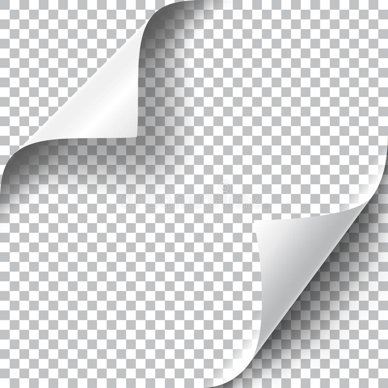 Курчавые установленные углы страницы иллюстрация штока