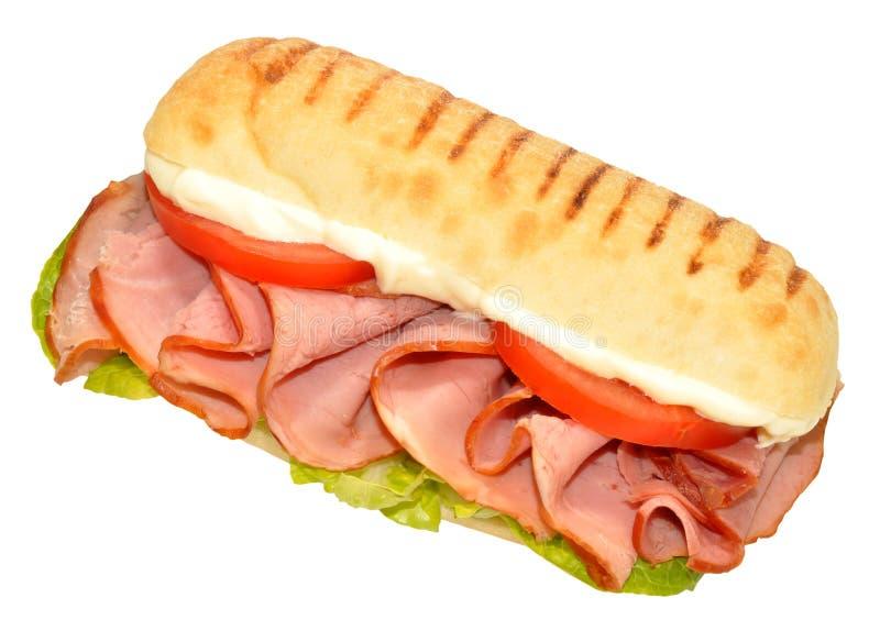 Курят сэндвич с ветчиной стоковая фотография