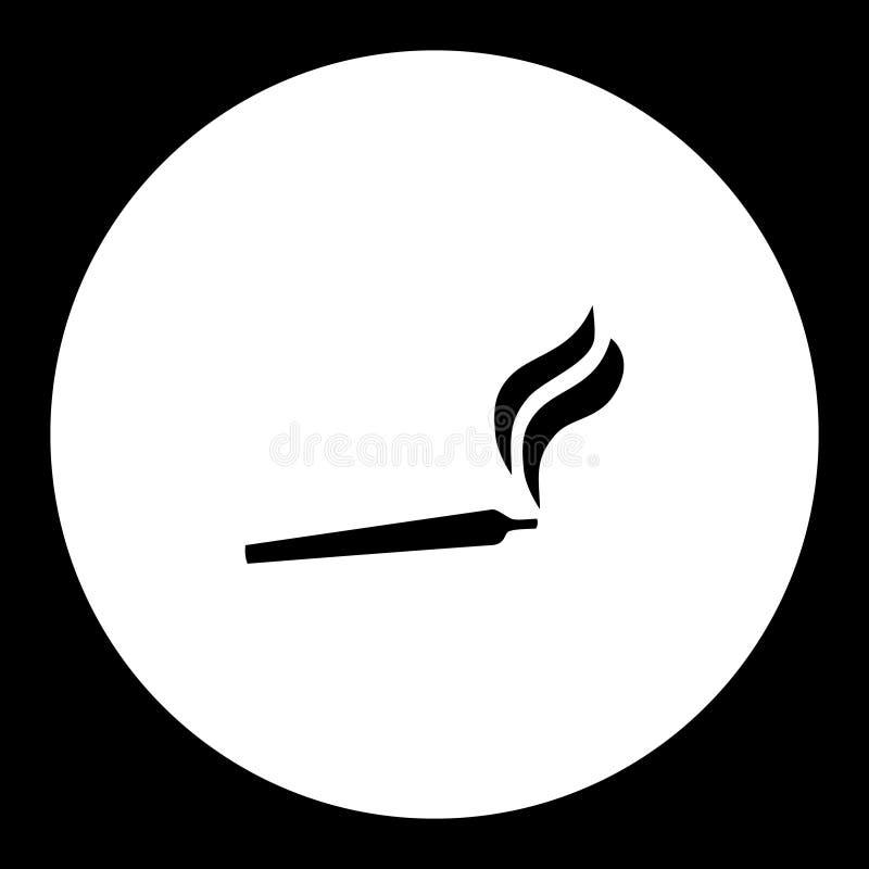 Куря значок eps10 совместной пеньки конопли простой черный бесплатная иллюстрация