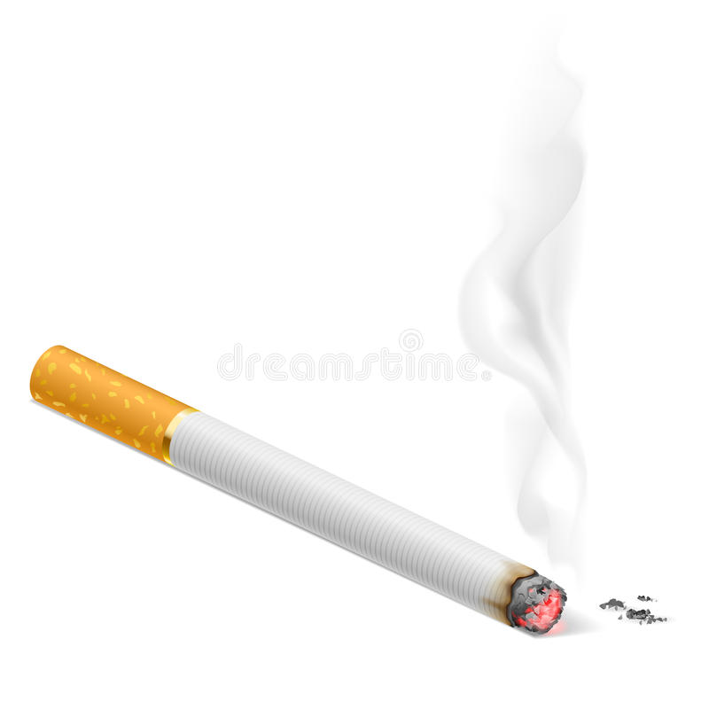 Куря сигарета бесплатная иллюстрация