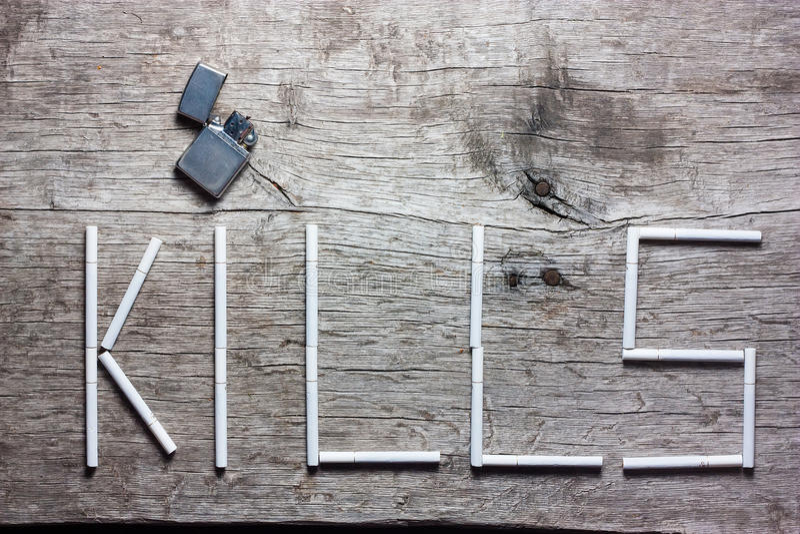 Куря убийства стоковое изображение rf