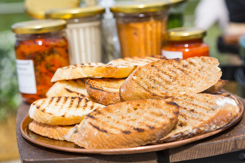 Куски зажаренного хлеба стоковое изображение