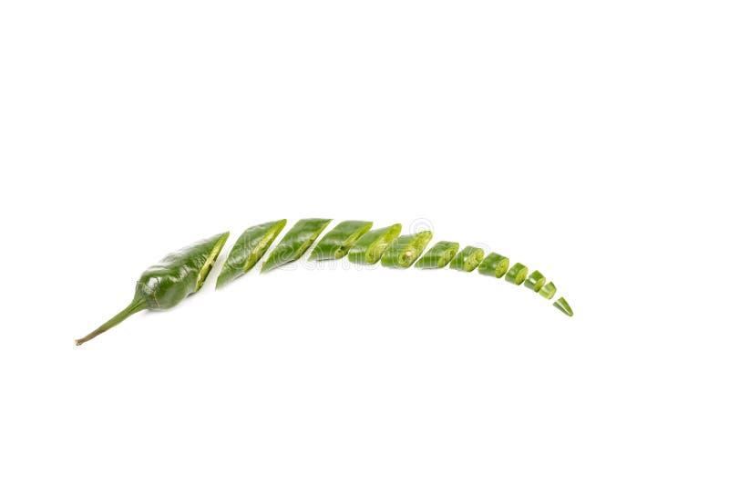 Куски зеленого перца чилей стоковые фото