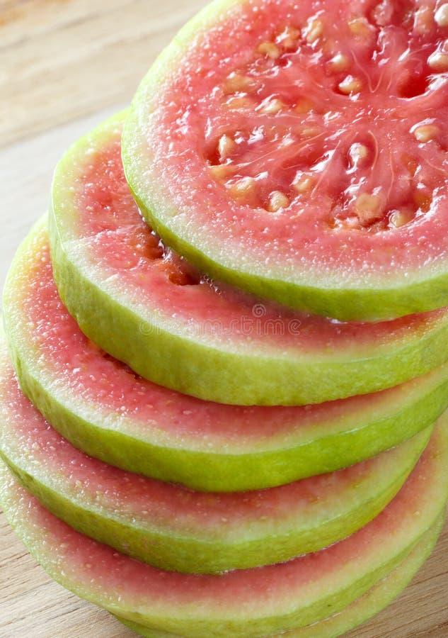 Куски красного guava стоковые изображения rf