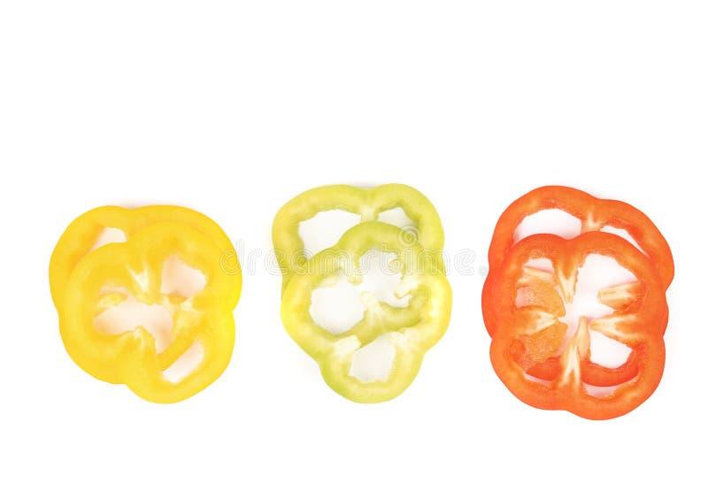 куски Мульти-цвета перца. стоковые изображения