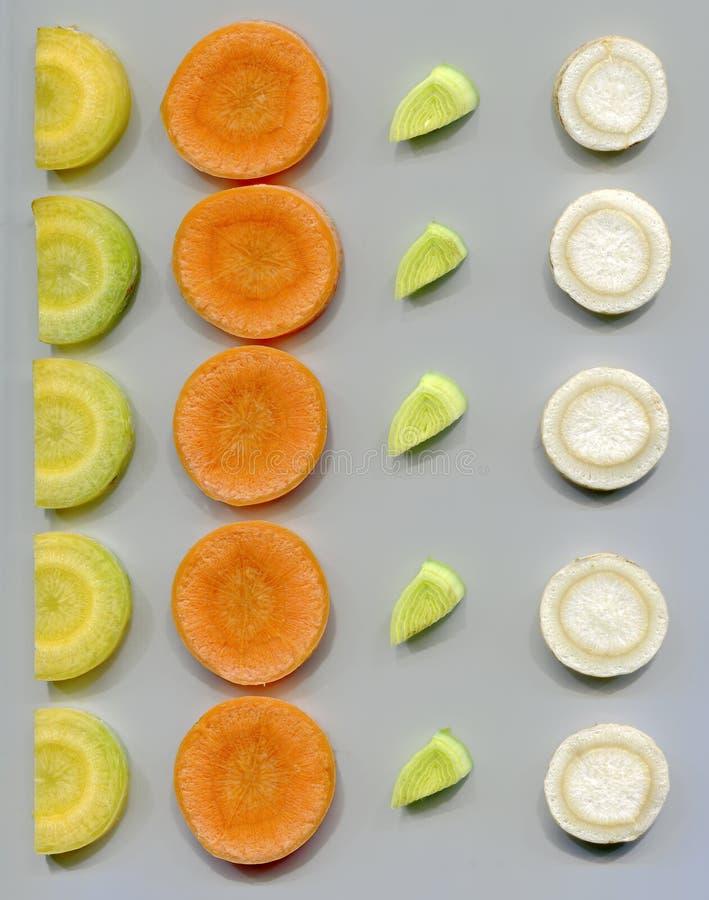 Куски овощей корня стоковые изображения