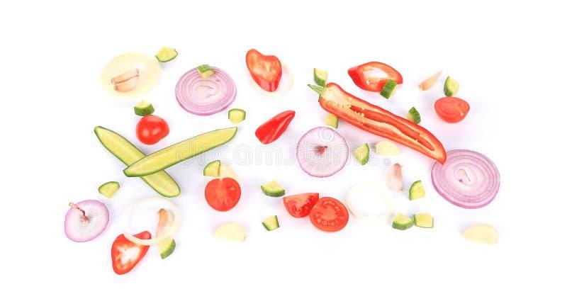 Куски овощей стоковое изображение