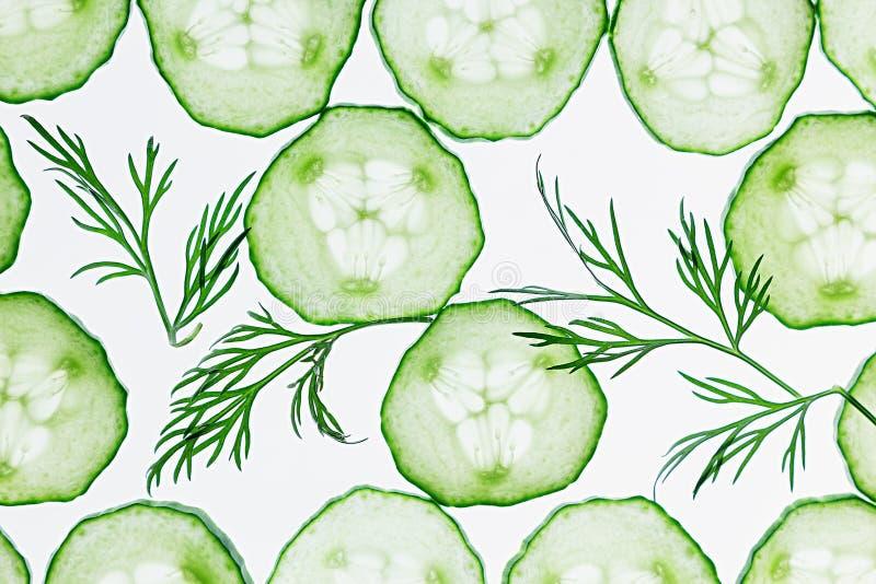 Куски огурца Зеленый укроп Картина еда вареников предпосылки много мясо очень стоковые фотографии rf