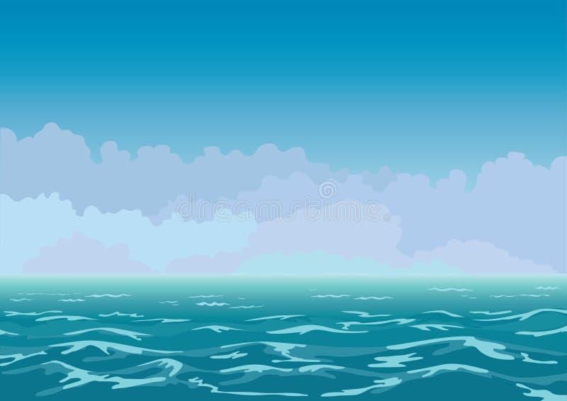 кусковатое море иллюстрация вектора