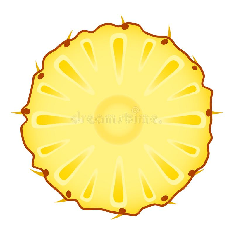 Кусок ананаса на белизне бесплатная иллюстрация