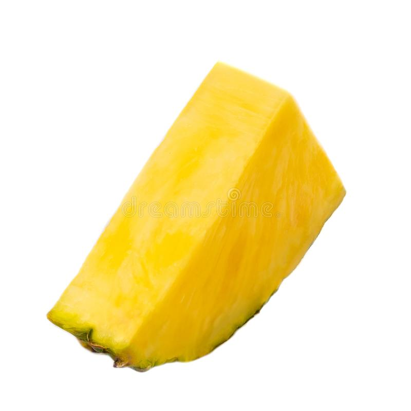 Кусок ананаса Плодоовощ ананаса изолированный на белой предпосылке Fre стоковые изображения