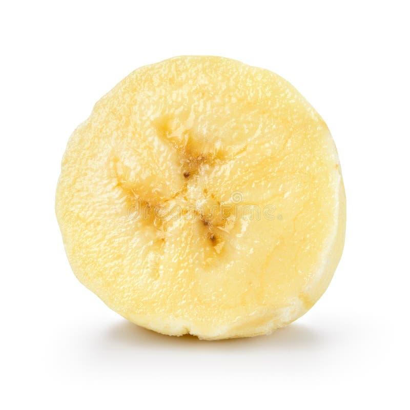 Кусок банана изолированный на белой предпосылке С путем клиппирования стоковые изображения rf