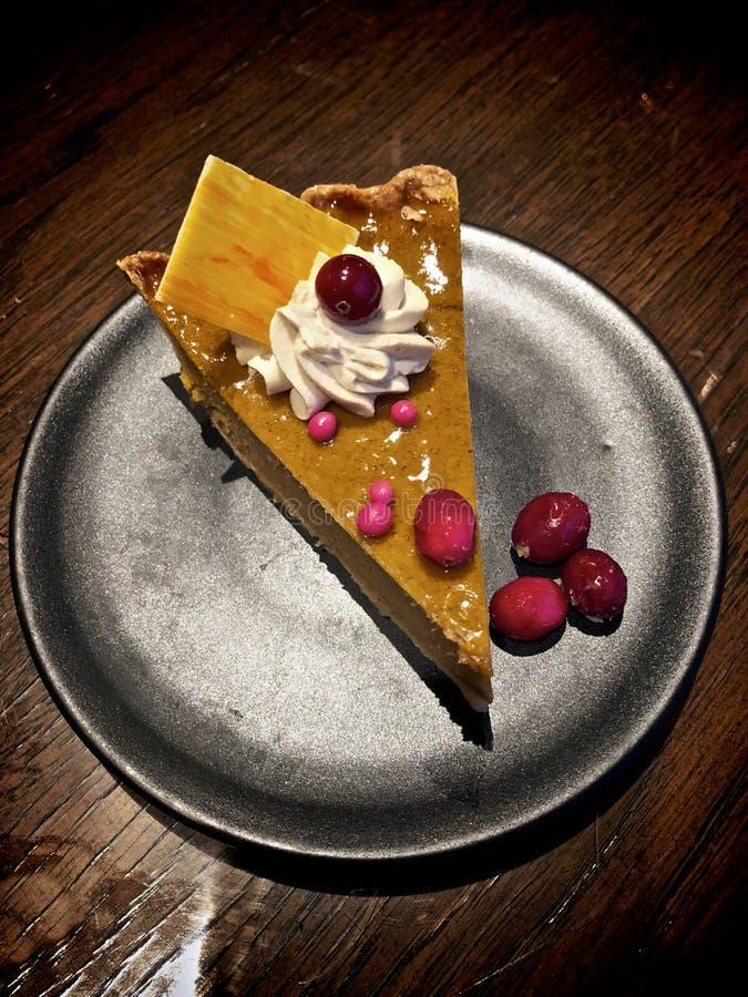 Кусок пирога тыквы стоковое фото rf