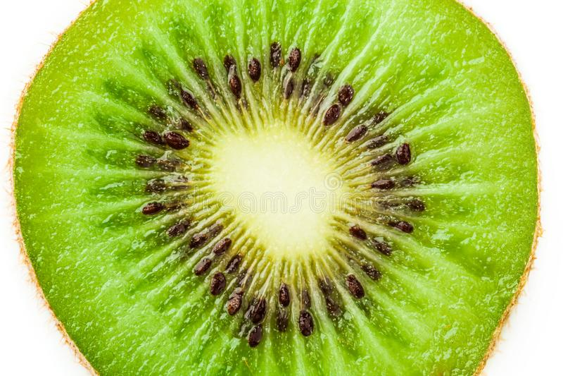 Кусок плода кивиа изолированный на белой предпосылке стоковые фотографии rf