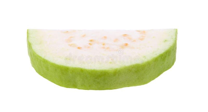 Кусок плодоовощ Guava изолированный на белой предпосылке стоковая фотография